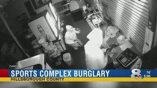 Two men were caught on camera burglarizing a sports complex in Lutz.