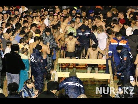 Крещение 2017 в Астане: православные и мусульмане в одной проруби