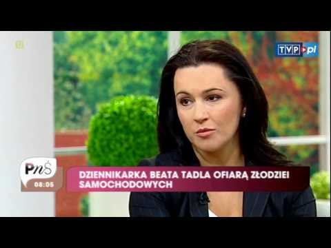 Beata Tadla - Beata Tadla pada ofiar zodzieja samochodw. Dziennikarka TVP opowiedziaa nam o tym zdarzeniu. Zobacz wicej: http://www.tvp.pl/styl-zycia/magazyny-sniada...