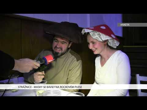 TVS: Strážnice - Masky se bavily na rockovém plese
