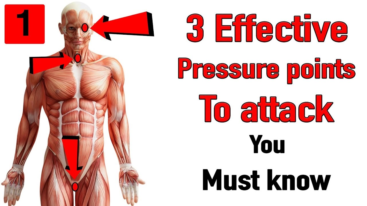 3 effective pressure points to attack you must know