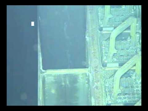 Fukushima Daiichi - Extraction of fuel from Unit 4 (video taken underwater) on November 18, 2013.