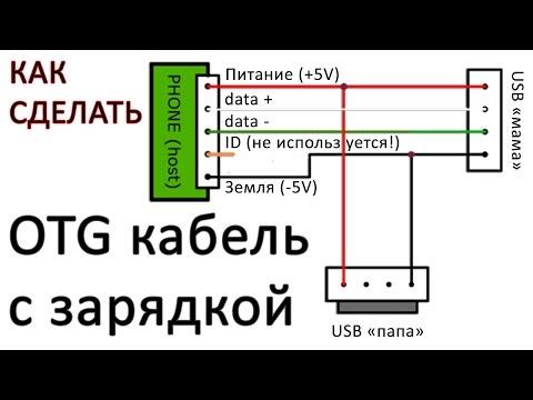 Как сделать кабель otg