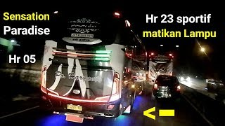 Video begini klo 3 bus balap Haryanto ketemu=Sensation Hr23 Vs Paradise 20-HR 05 MP3, 3GP, MP4, WEBM, AVI, FLV Februari 2018