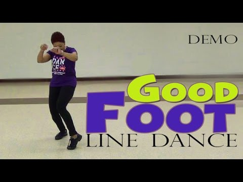 DEMO-Good Foot (Pokey Bear) Line Dance By The Line Dance Queen