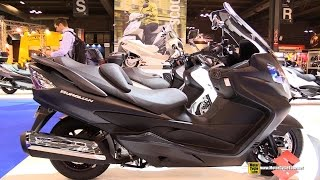 9. 2015 Suzuki Burgman 400 Lux ABS - Walkaround - 2014 EICMA Milan Motorcycle Exhibition