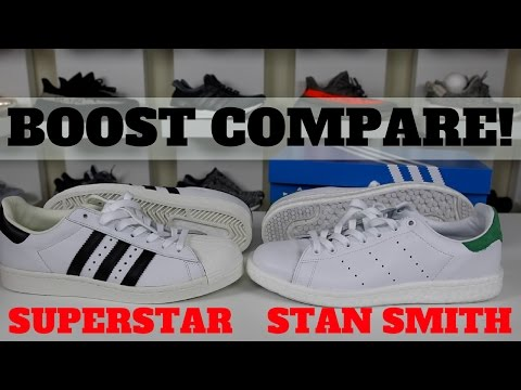 ONLY 1 WORTH BUYING?! ADIDAS STAN SMITH BOOST VS SUPERSTAR BOOST COMPARISON REVIEW!