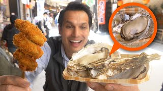 I hope you're hungry because we're about to go on a street food eating binge on Hiroshima's amazing island, Miyajima. It's a street food paradise and in this episode we're going to attack the following foods:★ Hiroshima Oysters / 広島牡蠣- Grilled (yaki gaki) 400 yen ($4)- Deep fried (kaki furai) 300 yen ($3)★ Deep fried Momiji Cake filled w/ Custard / 揚げもみじ 180 yen ($1.80)★ Miyajima Nigiri, white fishcakes with Bacon and Asparagus / 宮島にぎり天 300 yen ($3)★ Conger Eel ANAGO steamed bun or Anagoman / あなごまん 450 yen ($4.50)★ Okonomiyaki, a savory grilled Japanese pancake / お好み焼き1200 yen ($12)Where is Miyajima? It's 15 minutes by train from JR Hiroshima Station and a 15 minute ferry ride to the island.  Google Map: https://goo.gl/maps/8GonHSaz5k92JAPAN STREET FOOD SERIES on ONLY in JAPANHiroshima (Miyajima Island) https://www.youtube.com/watch?v=rMHSdN1cc4oNara https://www.youtube.com/watch?v=qhZU2JxFkmoTokyo (Shibamata) https://www.youtube.com/watch?v=8YU0s5WAFr0Sapporo (Ramen) https://www.youtube.com/watch?v=3MTKUjXUDpIKyoto (Nishiki Market) https://www.youtube.com/watch?v=sDAqtVbRux4Osaka (Dotonbori) https://www.youtube.com/watch?v=F9To5UjWhUAIf you want to see more, visit the live stream walk through on the ONLY in JAPAN GO channel: https://youtu.be/7ykDFI6zgTYDon't forget to subscribe and hit the notification button so you can see the shows LIVE on location! ONLY in JAPAN on Instagram:http://instagram.com/onlyinjapantvThis show has been created and produced by John Daub ジョン・ドーブ. He's been living and working in Japan for over 19 years and regularly reports on TV for Japan's International Channel.