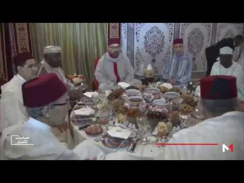 جلالة الملك محمد السادس يقيم مأدبة إفطار على شرف الرئيس الغابوني ورئيس مفوضية الاتحاد الافريقي