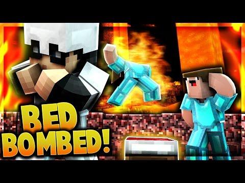 BED BOMBING FULL DIAMOND TEAM - Minecraft UHC Shorts