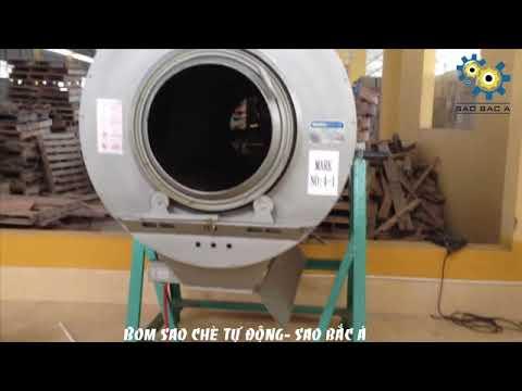 Video Máy Sao Chè- Bom Sao Chè, Dược Liệu Tự Động