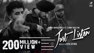 Video Just Listen | Official Music Video | Sidhu Moose Wala ft. Sunny Malton | BYG BYRD | Humble Music MP3, 3GP, MP4, WEBM, AVI, FLV Maret 2019
