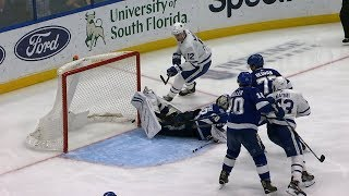 Andrei Vasilevskiy makes unreal skate stop for save of the year candidate! by NHL