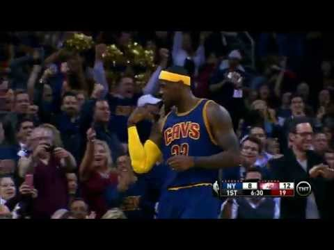 his - Lebron James is back home and starts off the season receiving an outlet pass from Kevin Love and finishing strong with a bucket and the foul. About the NBA: The NBA is the premier professional...