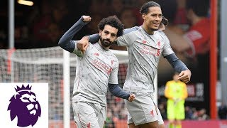 Download Video Mohamed Salah scores hat trick in Liverpool's win against Bournemouth | Premier League | NBC Sports MP3 3GP MP4