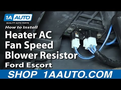 How To Install Replace Heater AC Fan Speed Blower Resistor 1991-03 Ford Escort ZX2 Mercury Tracer