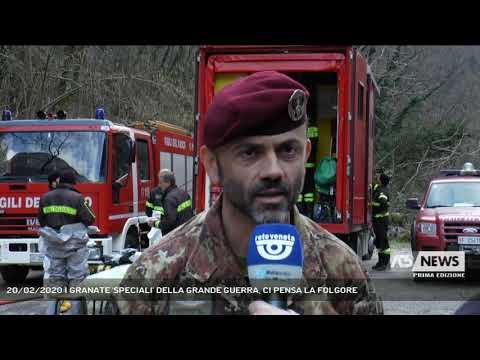 20/02/2020   GRANATE 'SPECIALI' DELLA GRANDE GUERRA, CI PENSA LA FOLGORE