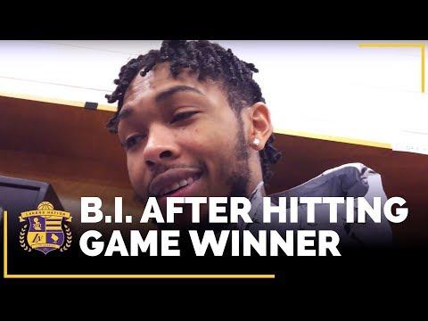 Video: Brandon Ingram After Hitting Game-Winner Vs. Philadelphia 76ers