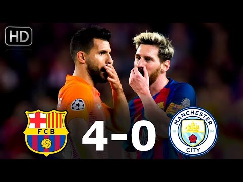 Barcelona vs Manchester City 4-0 All Goals & Highlights (Group Stage Champions League 2016/2017)HD