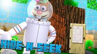 SANDY CHEEKS! Minecraft Spongebob HIDE N SEEK