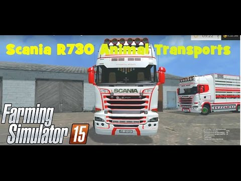 Scania R730 animal transports v1.5 V8 sound