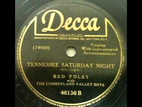 Tekst piosenki Red Foley - Tennessee Saturday Night po polsku