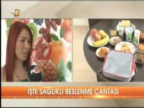 Diyetisyen ve Yaşam Koçu Gizem ŞEBER; 9 Eylül 2013'te TV8 Anahaber Bülteni'nde sağlıklı beslenme çantasında olması gerekenleri anlattı.