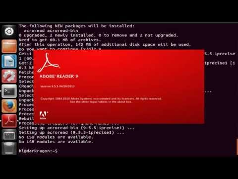 how to install adobe reader in Ubuntu