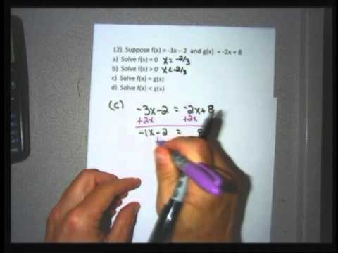 College Algebra section 4 1 part 1 – linear functions and there properties