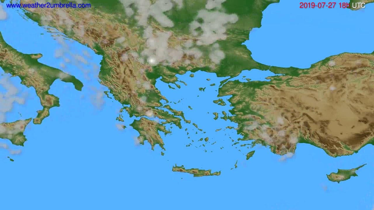 Cloud forecast Greece // modelrun: 00h UTC 2019-07-25