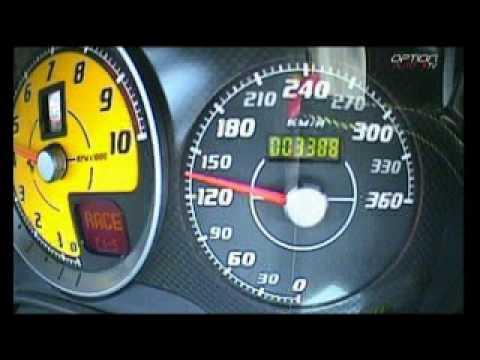 340 km/h su una ferrari 430 scuderia