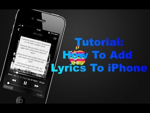 how to attach lyrics to iphone