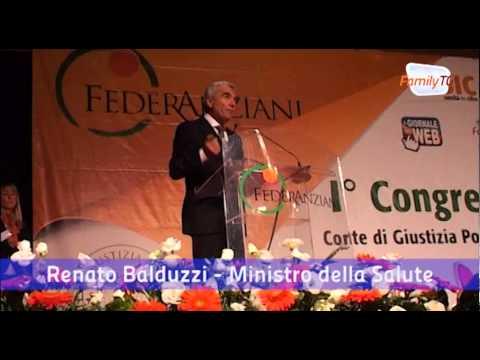Ministro Salute R. Balduzzi a Primo Congresso Corte Giustizia Popolare per Diritto Salute