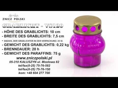 Grablichter Hersteller - Grablicht mit Metalldekor VS120 Flammschale