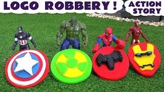Spiderman and Avengers Logo Robbery Play Doh Thomas The Tank Story | Ultron Hulk & Iron Man TT4U