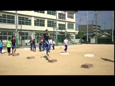 陸上競技の強豪校「洛南高校」による走りに近づけたBOXジャンプ