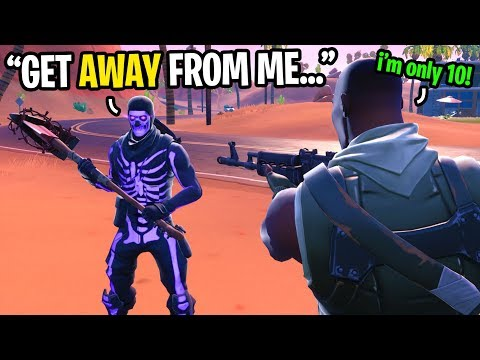 I Pretended To Be The Most ANNOYING 10 Year Old Kid On Fortnite... (very Toxic)