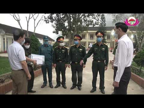 Lãnh đạo huyện QH thăm hỏi, động viên lực lượng làm nhiệm vụ tại khu cách ly Trường THCS BT Châu Lý