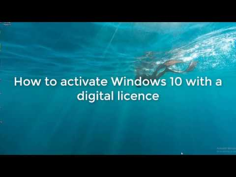 Activate Windows 10 with Digital Licence