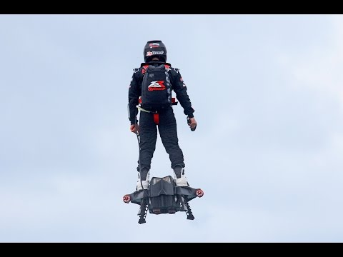 Watch world record hoverboard flight