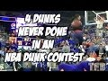 Download Video Guy Dupuy does 4 Dunks NEVER BEFORE DONE in an NBA Dunk Contest within 3 Minutes