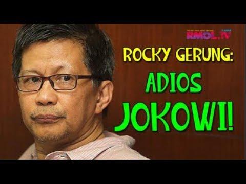 Rocky Gerung: Adios Jokowi!