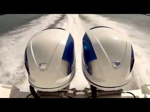 Twin Seven Marine 557 HP Cadillac CTS Engines on 36' Deep Impact Hull