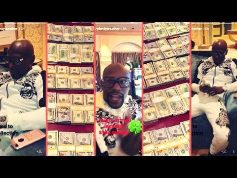 Floyd Mayweather Hits Jackpot At Las Vegas Casino Wins $1000000 + 50 Cent Calls Floyd Mayweather