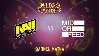 Natus Vincere vs Mid Or Feed, Midas Mode, game 1 [Lex, 4ce]