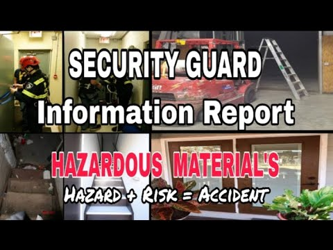 Security guard report example