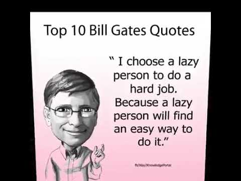 Ten best quotes of Bill gates abouts success