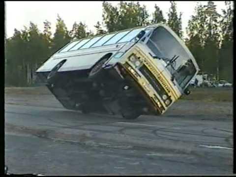 Crazy Drivers Stunt Show @ Hyvinkää - Finland 2005 - Bus To The Sunset