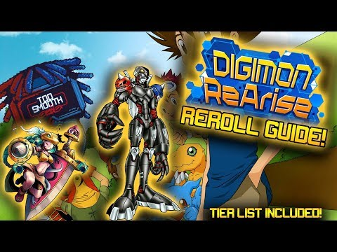 Digimon ReArise Reroll Guide! LD player Settings and Tier List Included