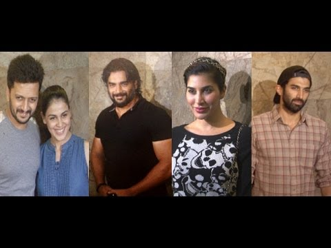 Ritesh, R Madhvan, Sophie At Special Screening Of Movie Bobby Jasoos